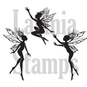 Three Dancing Fairies  - Lavinia Stamps (LAV136A)